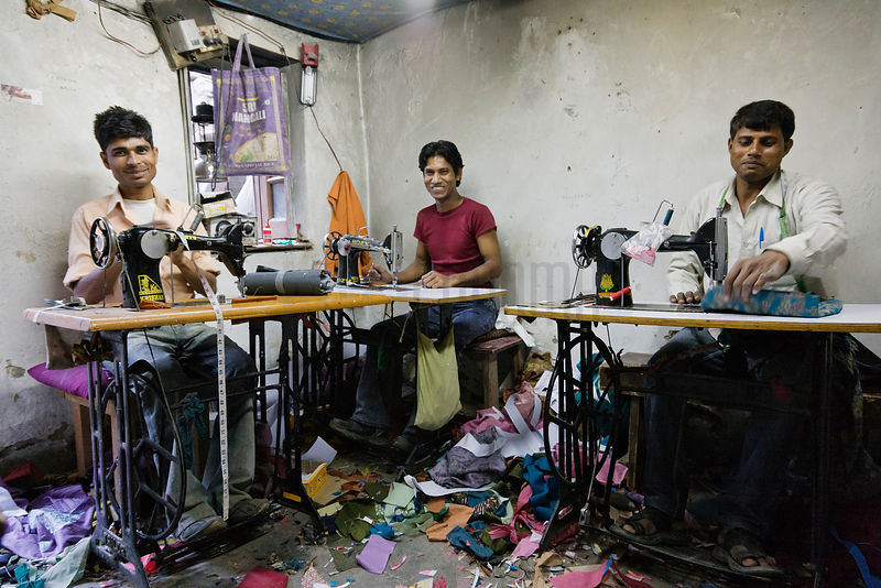 Tailors making women's clothes