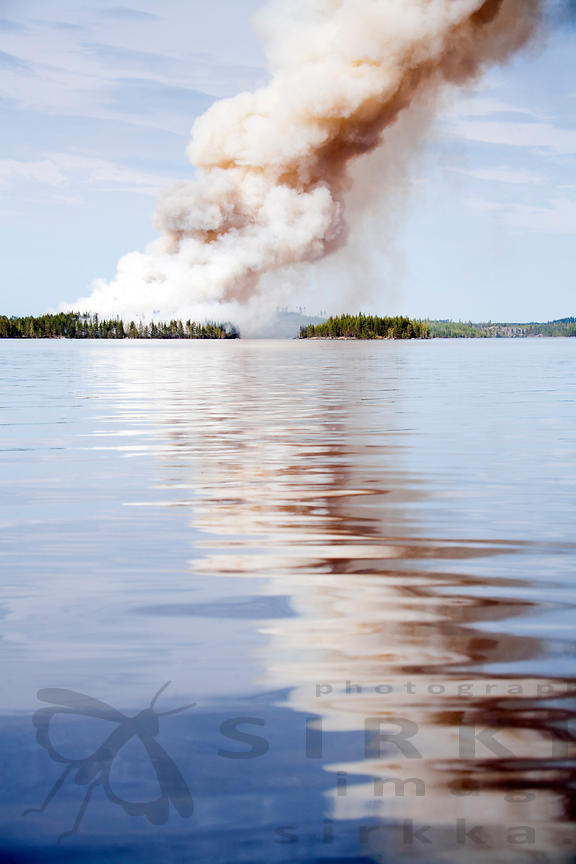 Restoration Burning in Island Iso-Häntiäinen