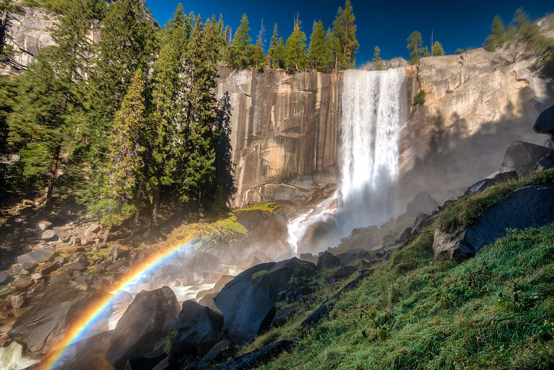 Vernal Falls in Yosemite National Park, California