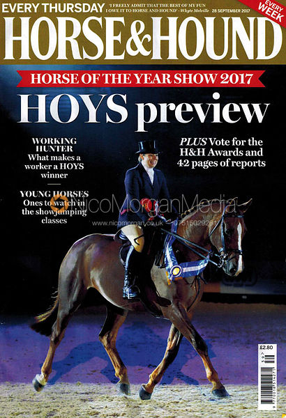 Horse & Hound HOYS preview front cover, September 2017