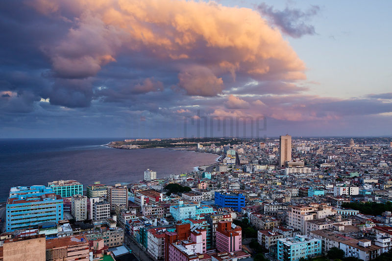 Elevated View of the Havana Skyline at Dusk