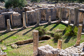 The Trifolium House, this was once the brothel of Dougga; Tunisia; Landscape