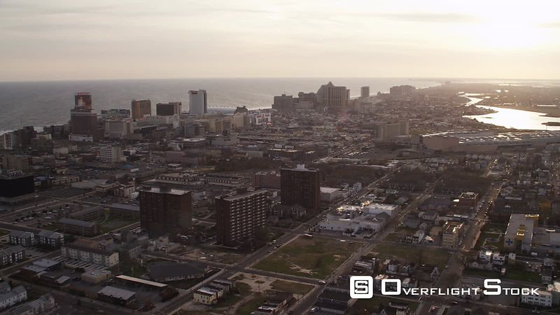 Flying over Atlantic City, New Jersey. Shot in November