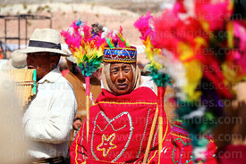 Ayawaya dancer with j'acha sikus group from Aransaya, Curahuara de Carangas, Bolivia