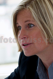 Ariane Ehrat, CEO of Engadin St.Moritz in her office during an interview.