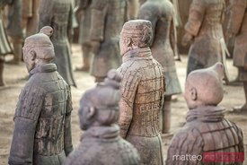 Terracotta army warriors in Xian, China