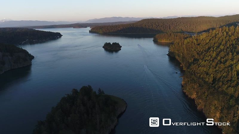 Drone Video Deception Pass Washington State