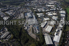 Stockport aerial photograph of  Bredbury Park Industrial Estate off the M60 motorway junction 25