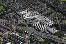 Manchester aerial photograph of a industrial Estate on Talbot road Old Trafford
