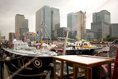 Boats Gathering for the River Pageant