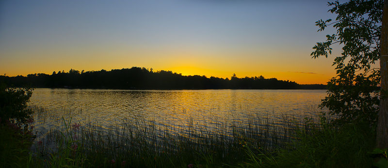 Wilderness Point sunset panorama