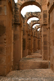 The internal galleries of the amphitheatre of Thysdrus. El Jem, Tunsia; Portrait
