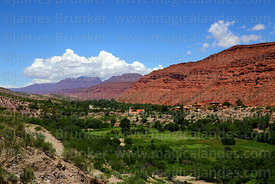 View looking down Cinti Valley towards Camargo, Chuquisaca Department, Bolivia