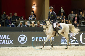 Bordeaux, France, 3.2.2018, Sport, Reitsport, Jumping International de Bordeaux - Prix HOTEL BURDIGALA .Trophée BORDEAUX METROPOLE. Bild zeigt Felix HASSMANN (GER) riding SL Brazonado (5*)...3/02/18, Bordeaux, France, Sport, Equestrian sport Jumping International de Bordeaux - Prix HOTEL BURDIGALA .Trophée BORDEAUX METROPOLE. Image shows Felix HASSMANN (GER) riding SL Brazonado (5*).