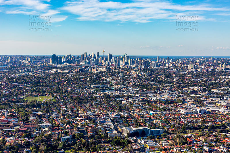 Sydney Skyline From Marrickville