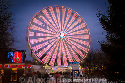 The big wheel at the Winter Wonderland evet in Oslo
