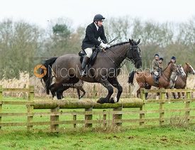Piers Flay jumping a fence at Goadby Marwood 11/1