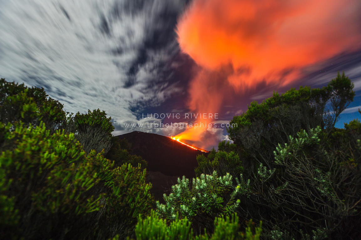 Eruption volcanique du piton de la fournaise 2015