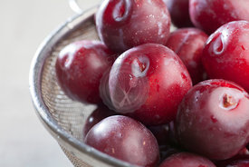 Washed Ripe Plums