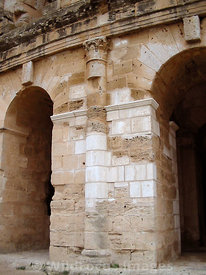 The outer facade of the amphitheatre of Thysdrus, El Jem, Tunsia; Portrait