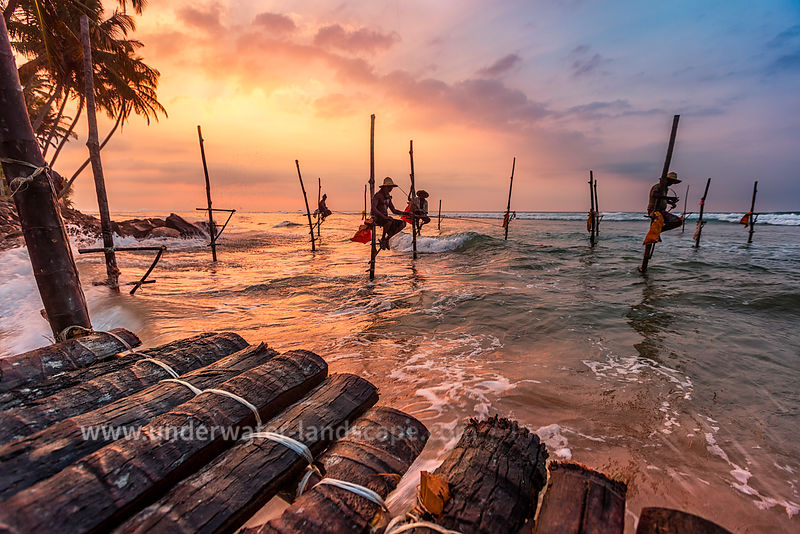 Sri Lankan Fishermen - Sunset in Sri Lanka