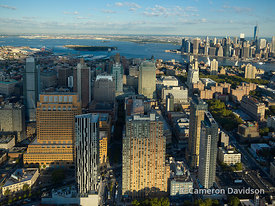 Aerial of  downtown Brooklyn