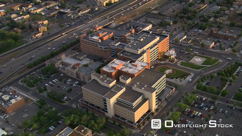 Orbiting Presbyterian Hospital in Albuquerque.