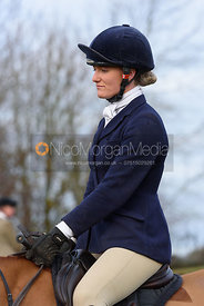 Flora Young at the meet - The Belvoir Hunt at The Wolds Farm 3/12