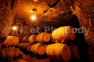 CAVE, MAINE ET LOIRE, FRANCE//WINE CAVE, LOIRE VALLEY, FRANCE