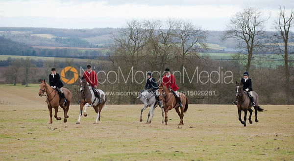 The North Cotswold Hunt at Kineton Hill for Horse & Hound magazine.