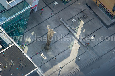 Aerial view of Mayor Square, National College of Ireland, Dublin, Ireland