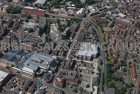 Bolton aerial photograph of St Georges Road Bark Street and Duke Street area