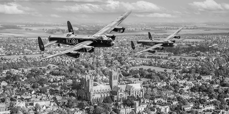 Two Lancasters over Lincoln Gary Eason