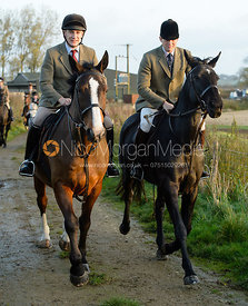William Bell leaving the meet - The Cottesmore Hunt at the kennels 21/10