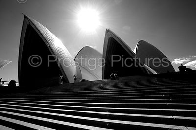 The Sydney Opera House in Black & White