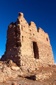 The ruins of the fortified granary atop Ait Benhaddou, Morocco; Portrait