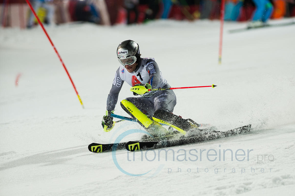 Schladming, Austria, 23.1.2018, Sport, Wintersport, Nightrace Schladming. Bild zeigt LIZEROUX Julien (FRA)...23/01/18, Schladming, Austria, Sport, winter sport, Nightrace Schladming. Image shows LIZEROUX Julien (FRA).