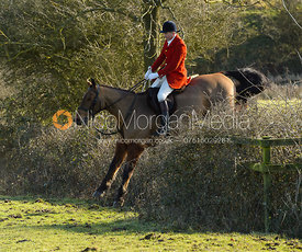 Ashley Bealby jumping a hedge at Bleak House
