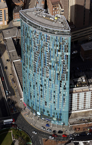 aerial photograph 10 Holloway Circus Birmingham AKA the Beetham Tower