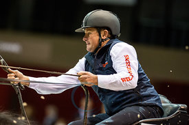Bordeaux, France, 4.2.2018, Sport, Reitsport, Jumping International de Bordeaux - FEI WORLD CUP™ DRIVING FINAL - 2nd ROUND. Bild zeigt Boyd EXELL (AUS)...4/02/18, Bordeaux, France, Sport, Equestrian sport Jumping International de Bordeaux - FEI WORLD CUP™ DRIVING FINAL - 2nd ROUND. Image shows Boyd EXELL (AUS).