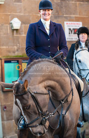 Debbie Barnes - The Cottesmore Hunt in Uppingham on New Year's Day 2013