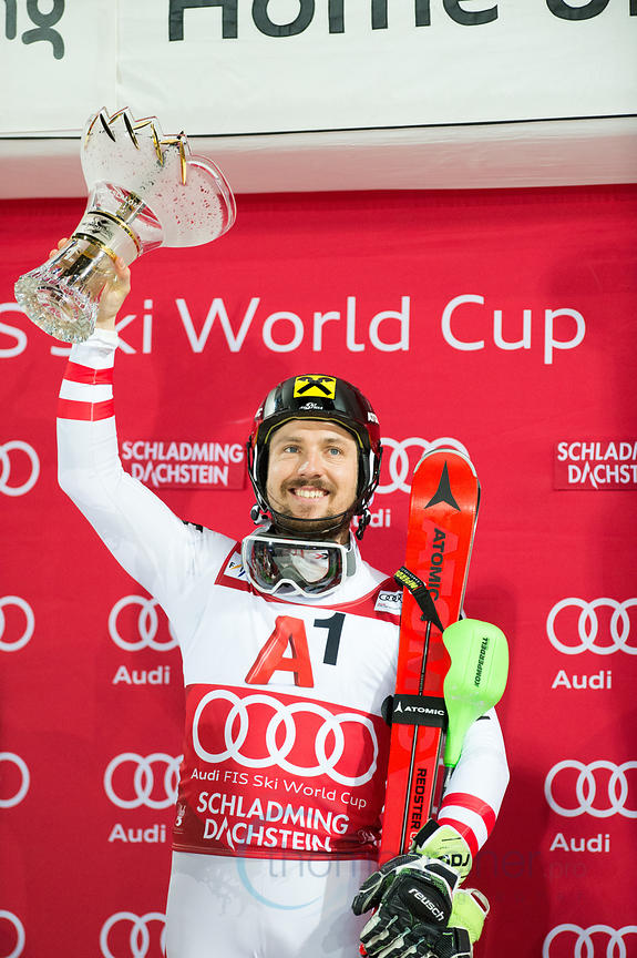 Schladming, Austria, 23.1.2018, Sport, Wintersport, Nightrace Schladming. Bild zeigt HIRSCHER Marcel (AUT)...23/01/18, Schladming, Austria, Sport, winter sport, Nightrace Schladming. Image shows HIRSCHER Marcel (AUT).
