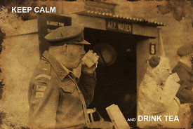 Canvas wall art | for sale | Keep calm... drink tea | Haworth 1940s weekend