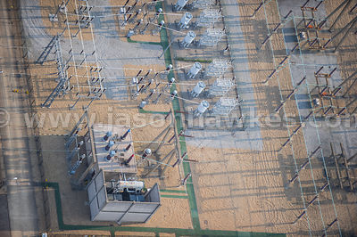 Aerial view of Warley Substation, Upminster, United Kingdom