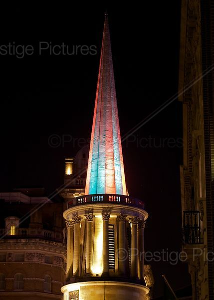 All Souls Church Langham Place with Illuminated Christmas Spire