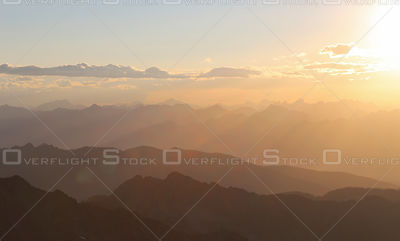 Sunset Over the Selkirk Mountains Canada