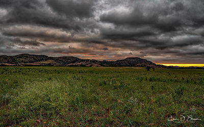 Sunrise over Wichita Mountains