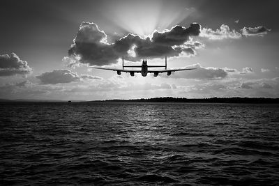 Job done: low-level Lancaster black and white version