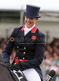 Nicola Wilson and OPPOSITION BUZZ - dressage phase,  Land Rover Burghley Horse Trials, 6th September 2013.