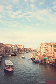 Grand canal with a vintage feel,Venice, Italy